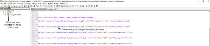 notepad++ file changes
